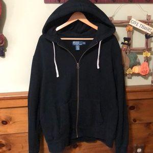 Men's XXL Hooded Polo Zip Up